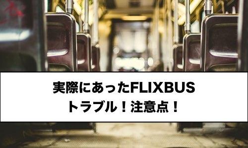 【ヨーロッパ旅行】FLIXBUSでの実際のトラブル。注意点。